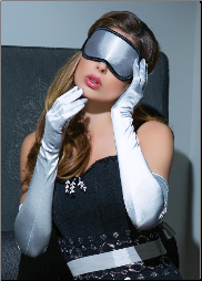 Coquette Silver Gloves