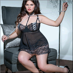 Shakespeare's in Love Coquette Diva Babydoll & G-String