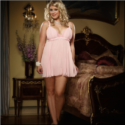 Pleated Chiffon Baby Doll