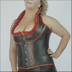 The Biker Babe Steel Boned Leather Corset