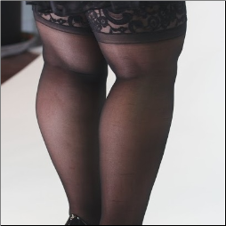 Scallop Lace Top Stockings - 1X - 6X