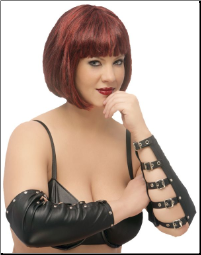 Plus Size Leather Arm Guards With Buckles