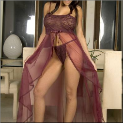 Romantic Sheer Night Gown - Plus Size