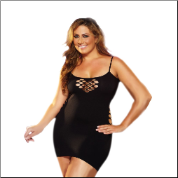 Cash Cage Mini Dress in Plus Sizes