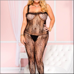 Sexy Queen Size Lace Bodystocking
