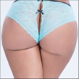 Crotchless Lace Panty with Bows