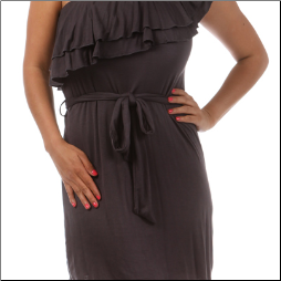 One Shoulder Dress in Ruffles