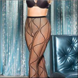 PLUS SIZE SWIRLY FISHNET PANYTHOSE