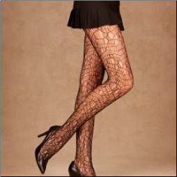 Ripped Net Pantyhose - Plus Size