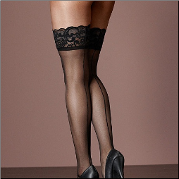 Scallop Stockings - Backseam - 1X - 6X